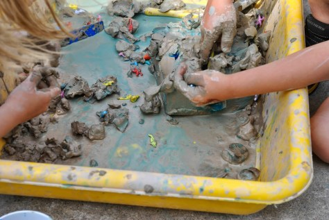 Messy Clay Play