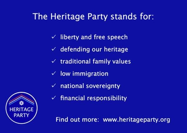 The Heritage Party – a new UK political party to get behind