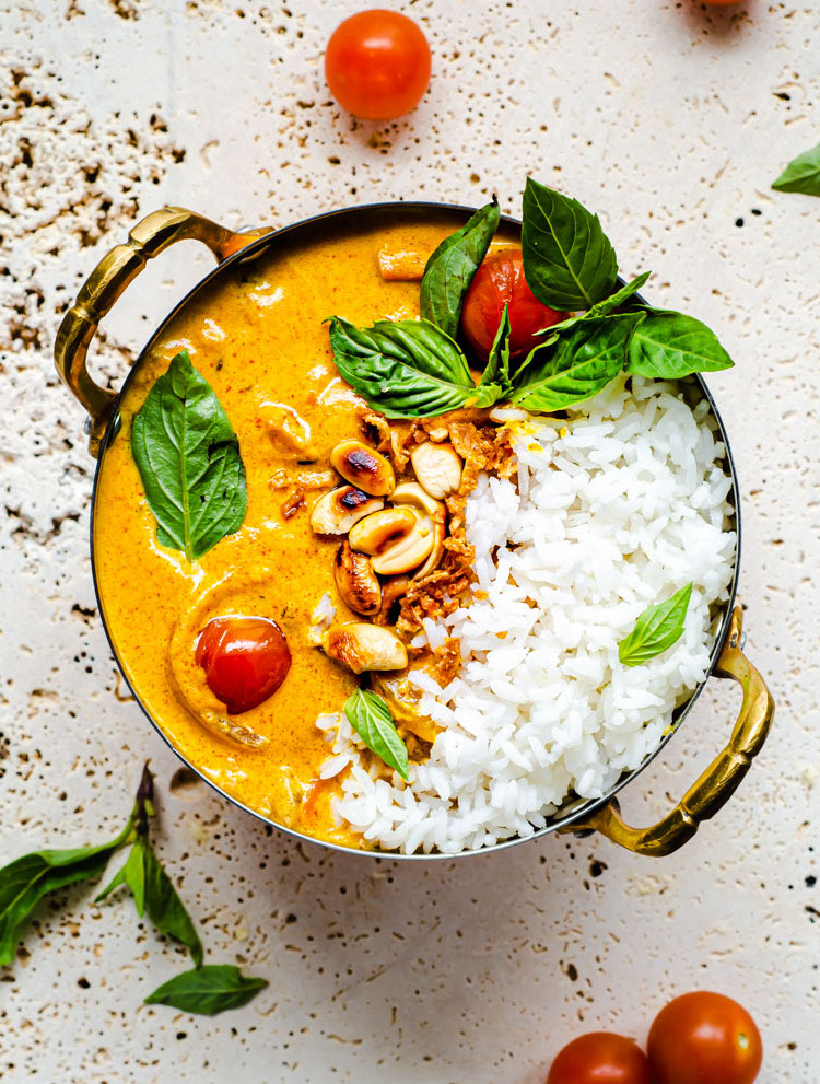Tomato Coconut Curry in a serving bowl