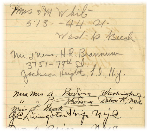 Mr.s  & Mrs. H.R. Brannum in the Sleepy Hollow Hall Registry