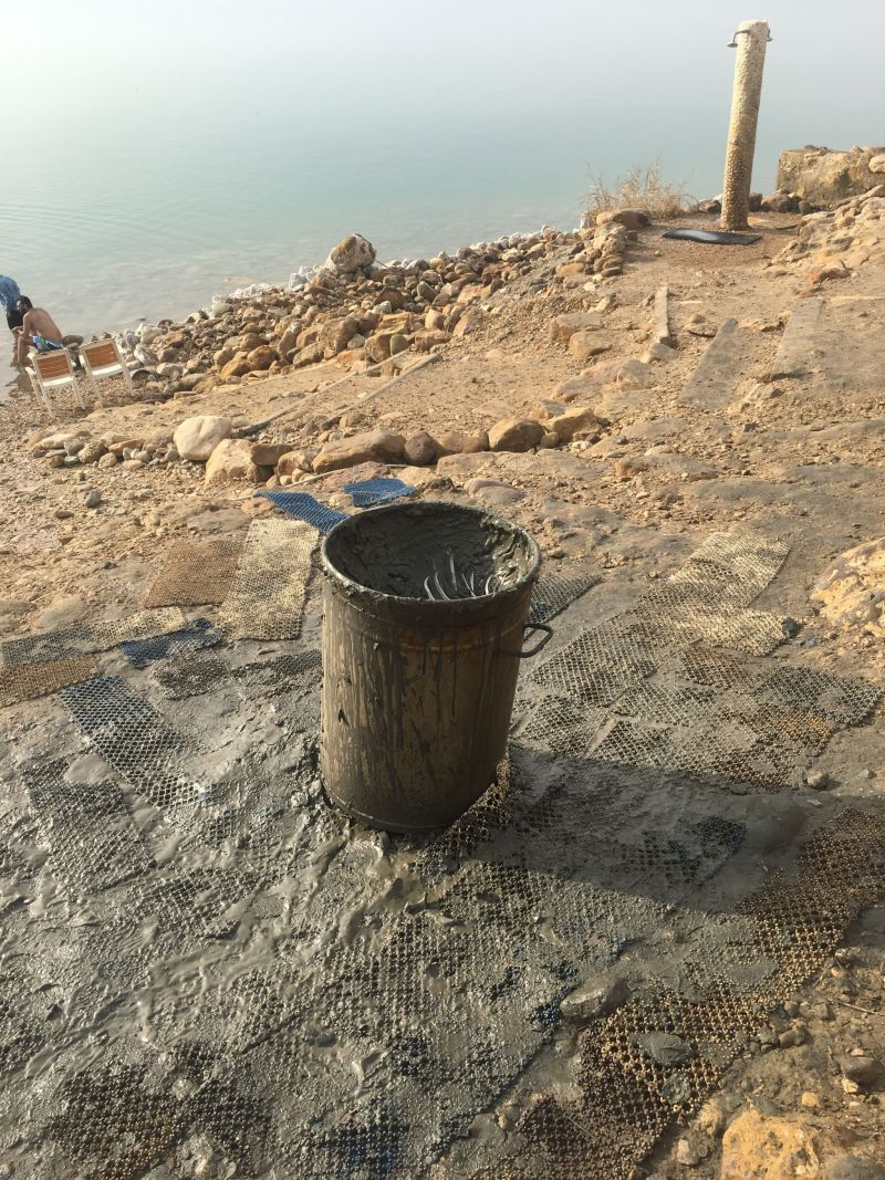 Mud at the Dead Sea Jordan
