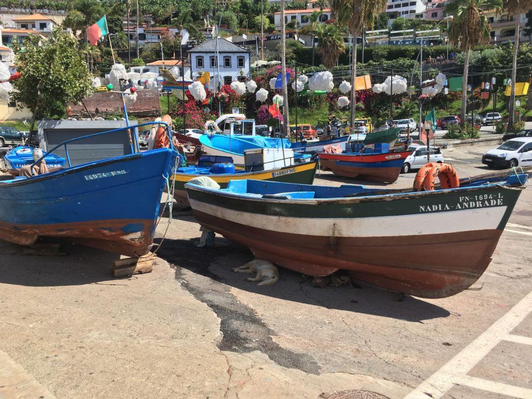 The harbour front at Camara De Lobos