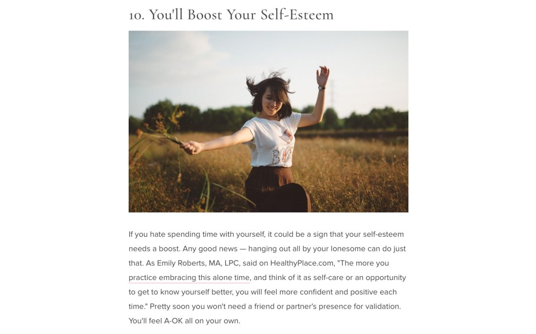 11 Healthy Reasons Why You Should Spend This Weekend Alone page 12