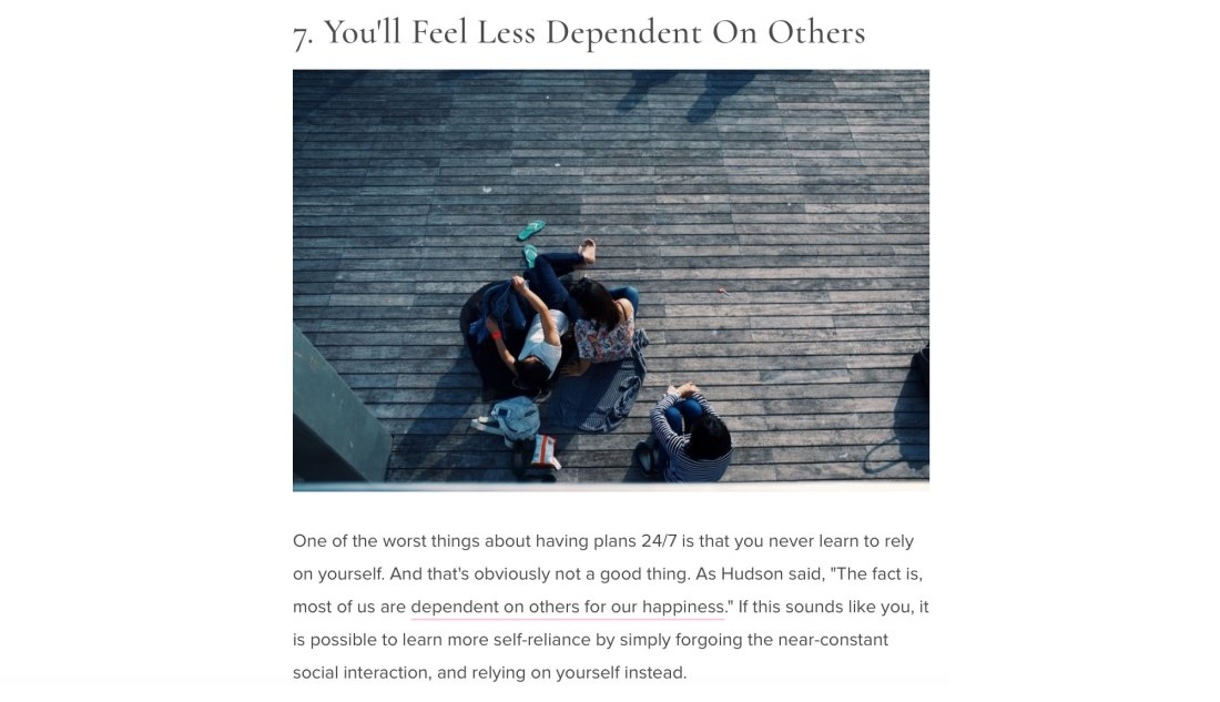 11 Healthy Reasons Why You Should Spend This Weekend Alone page 9