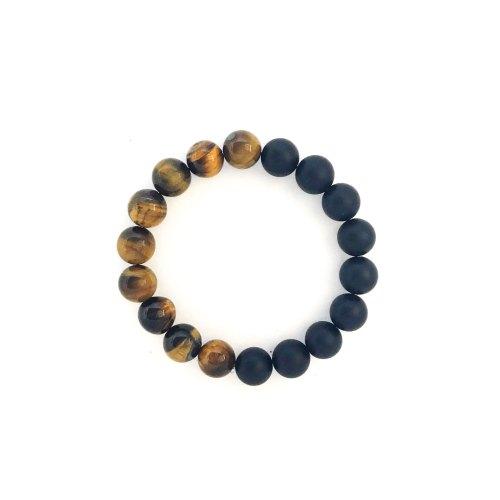10mm Tiger's Eye Onyx Bracelet