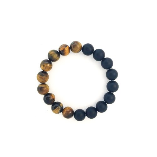 10mm Tiger's Eye Onyx Bracelet