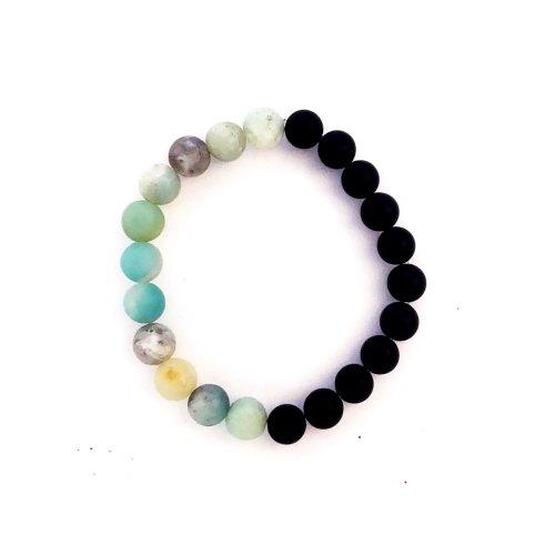 8mm Matte Amazonite Onyx Bracelet