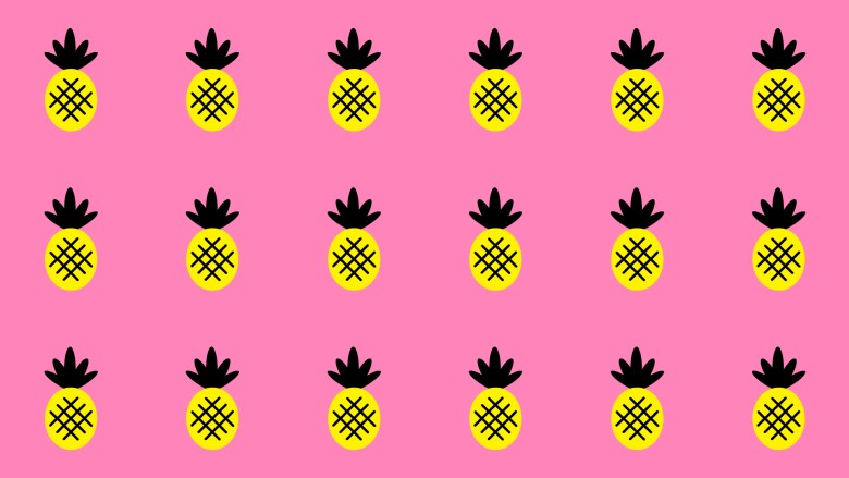 Pink Pineapple Paradise Desktop Wallpape