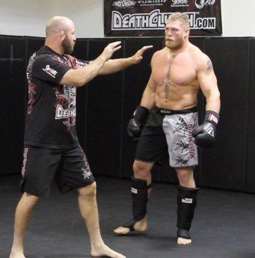 Marty Morgan and Brock Lesnar.