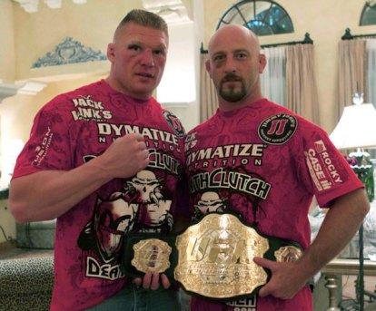 Brock Lesnar and Marty Morgan.
