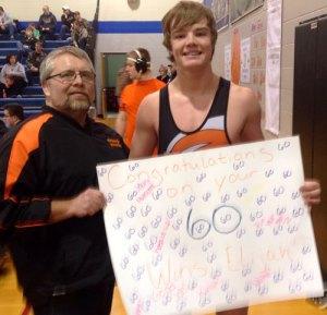 60th Win - Elijah Cloos, Ortonville, 10th, 170 pounds