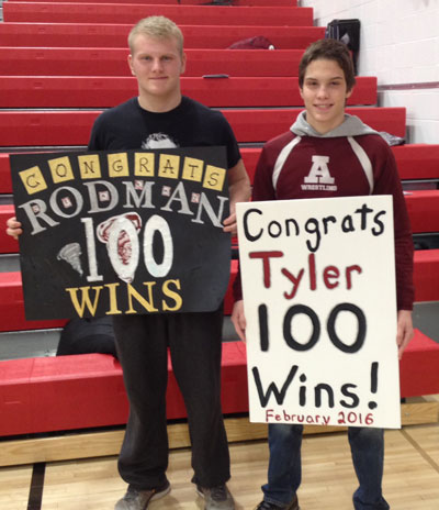 100th Career Wins – Jeremy Rodman and Tyler Eischens of Anoka