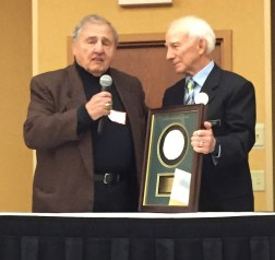 Alan Rice and National Wrestling Hall of Fame Minnesota Chapter 2016 Honoree John DeLozier.
