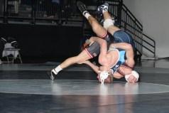 Photo by Johnnie Johnson. 174: Dalton Westerlund (UPIO) over #4 Clayton Jennissen (SCS) (TB-1 5-3)