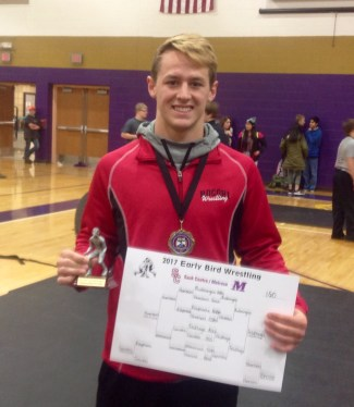 Melrose Early Bird Invitational Most Valuable Wrestler: Gunnar Feldhege, Rocori, 12th grade, 160 Pounds.
