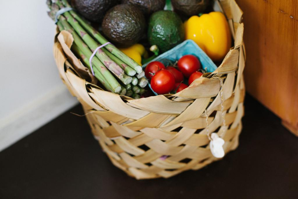 produce in a basket