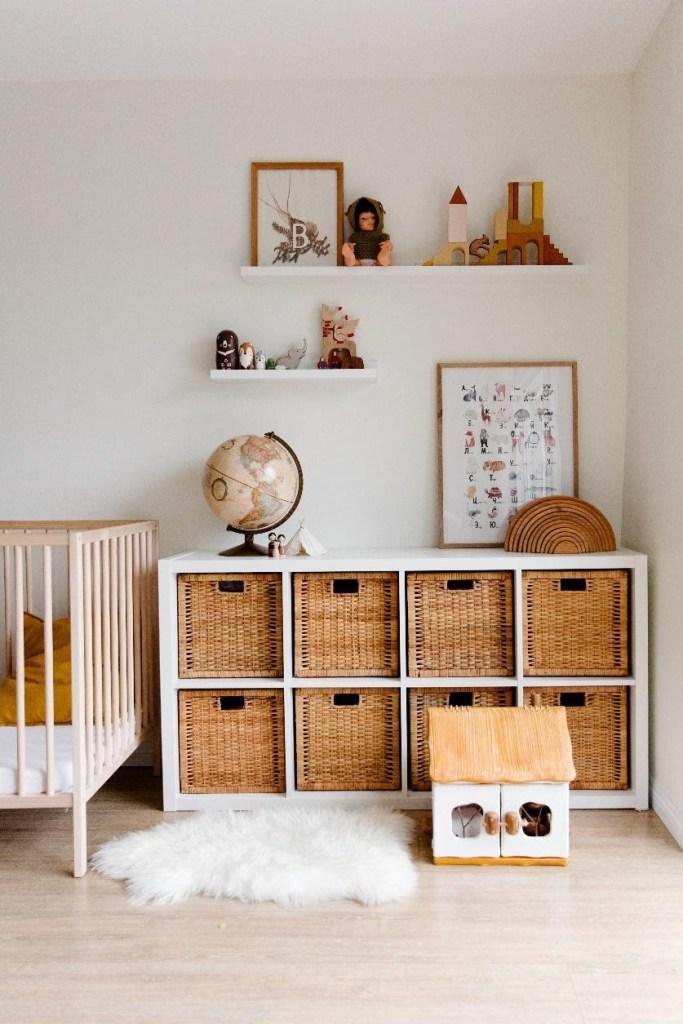 organized sustainable playroom