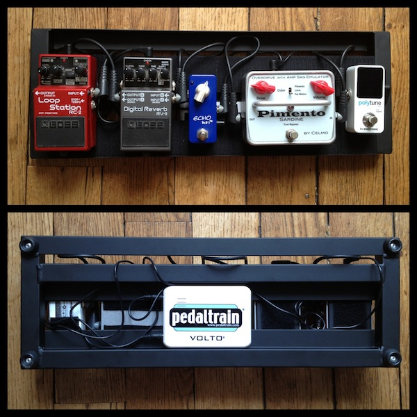 Pedaltrain Mini powered by the Volto: lose the power cable!