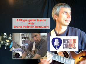 Skype guitar lesson with Bruno Pelletier-Bacquaert