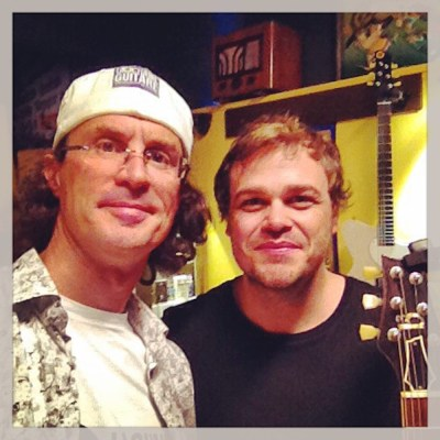 Adam Miller Selfie with Pierre Journel from The Guitar Channel