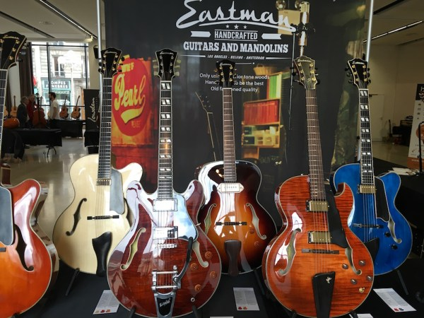 Eastman Guitars booth at the 2016 festival Guitares au Beffroi