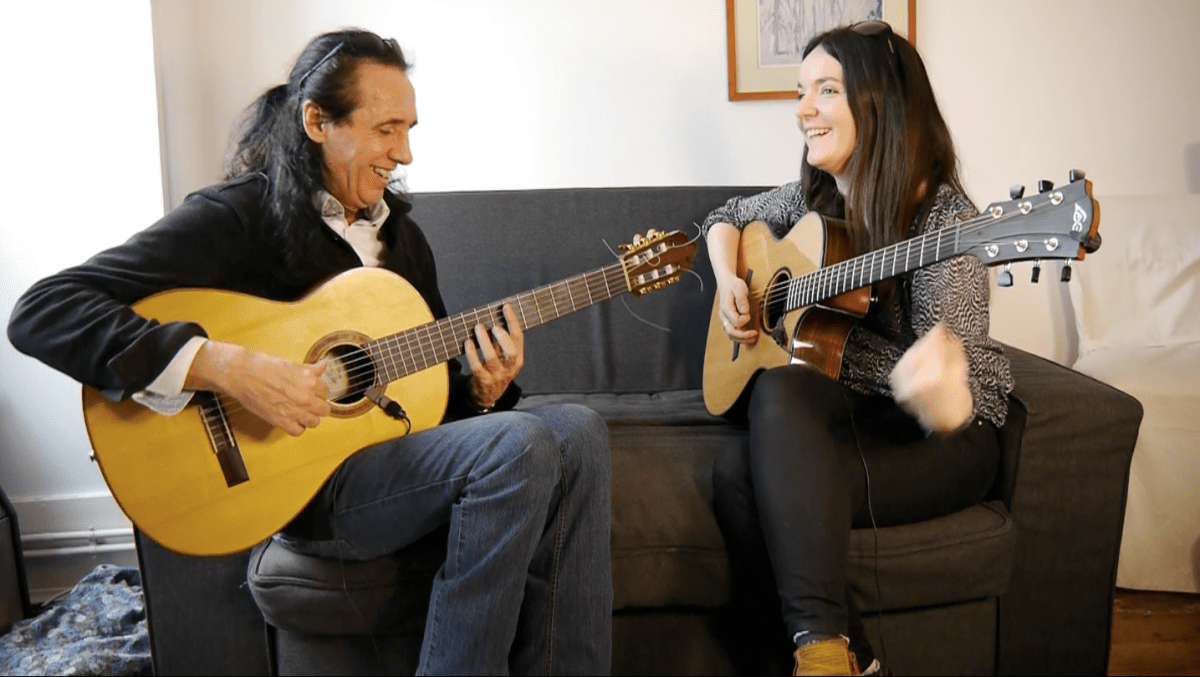 Acoustic session with Serge Lopez and Anouck André