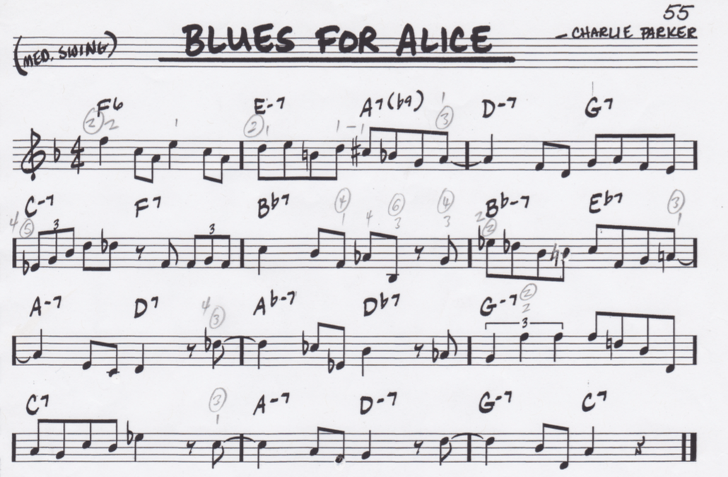 """Blues for Alice"" by @BrunoPelbac - Arpeggio study"
