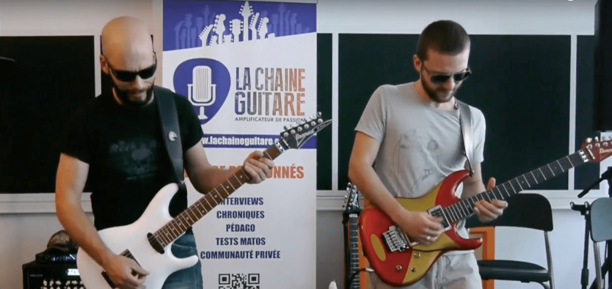 When Pascal Vigné and Saturax play Joe Satriani