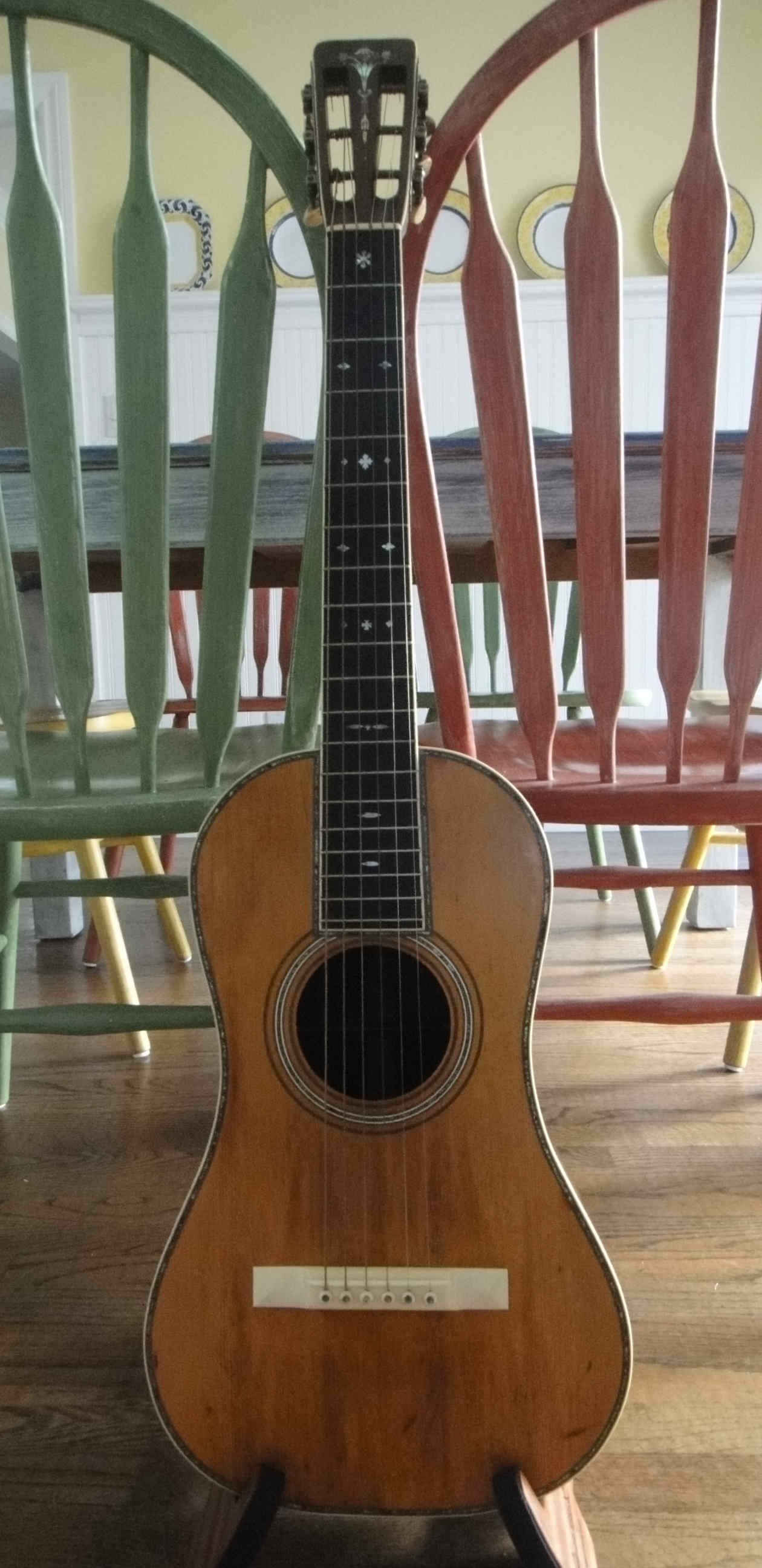 1919 Ditson 145 Guitar (baby D45), Serial Number 466  The Guitarphile