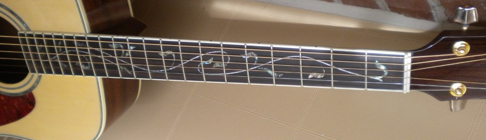 Ibanez AW40 Vine Of Life Inlay Detail Jim Pearson