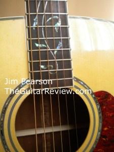 Ibanez Artwood AW40 Rosette Detail Jim Pearson