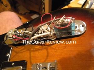 The Factory electronics of a Fender Blacktop Baritone Telecaster