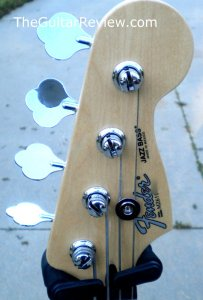 Fender Fretless Jazz Headstock frontby Jim Pearson