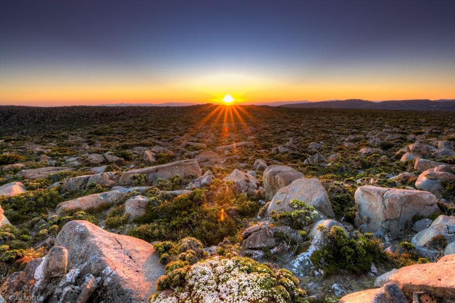 Pinnacle Sun Setting