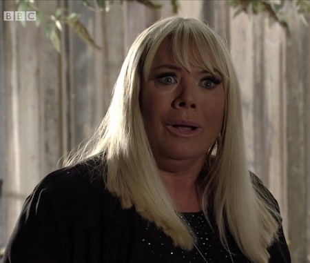 Sharon EastEnders wtf face
