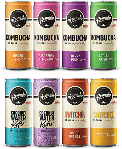 Remedy kombucha rainbow pack