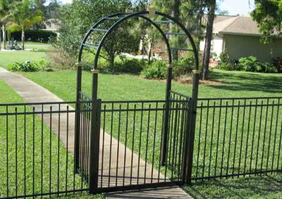 Black 3 Rail Canterbury with Aluminum Arbor