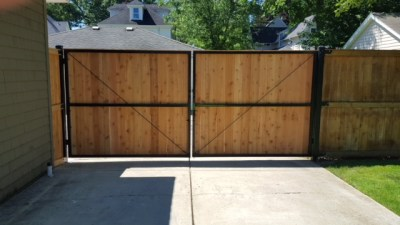 Double Drive Gate with Iron Framework 2