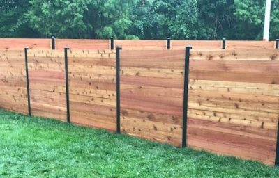 Horizontal Fence with powder coated posts 2