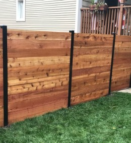 Horizontal Fence with powder coated posts