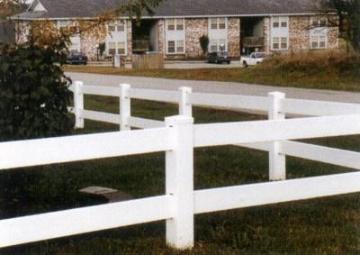 PVC Rail Fence 1