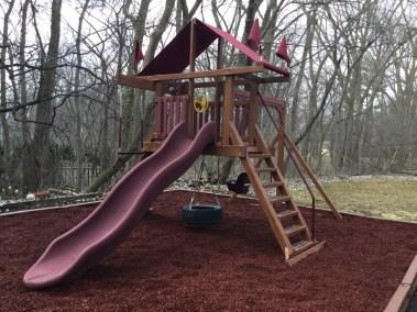 Swing Kingdom Wood Grain red