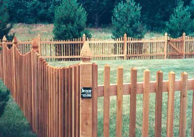 2x2 Scalloped Picket with French Gothic Posts