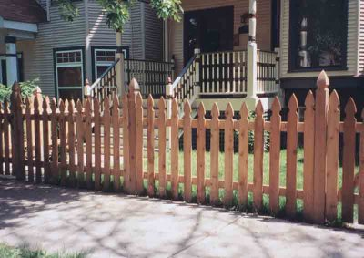 French Gothic Picket Scalloped with French Gothic Posts