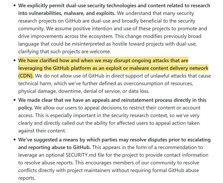 GitHub hacking policy