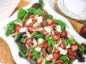 Instant Pot® Chicken Salad with Strawberries, Feta, & Pecans