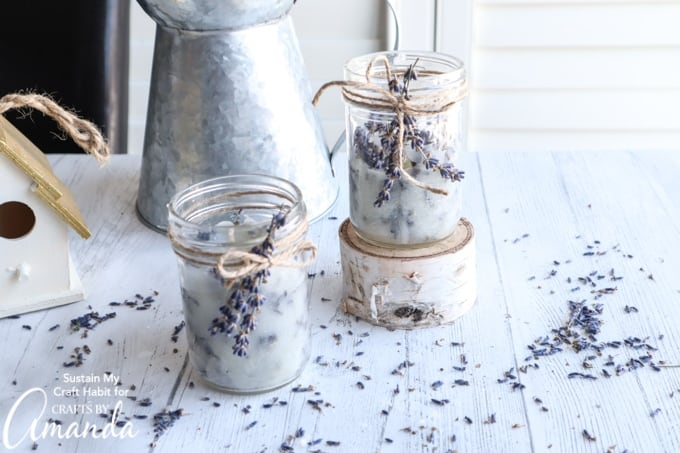 DIY Dry Lavender Candles by craftsbyamanda.com