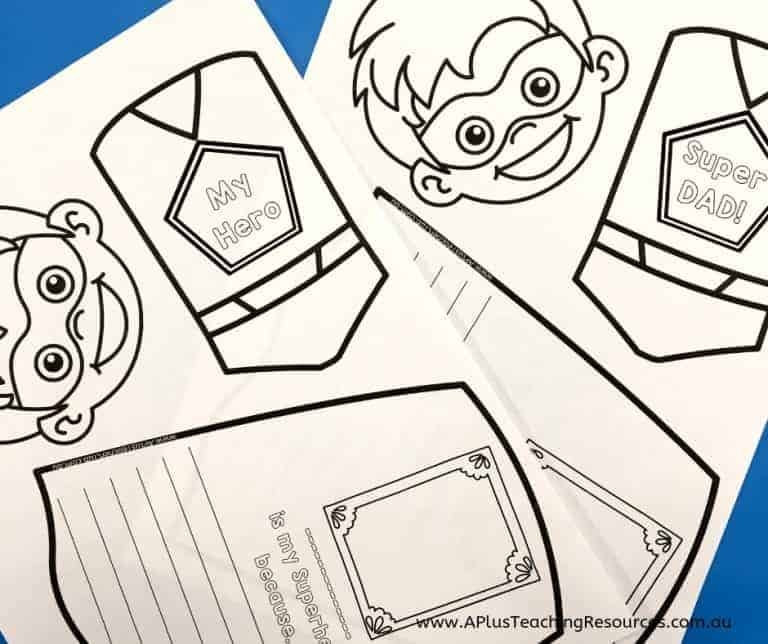 Free Fathers Day Craft Printables by aplusteachingresources.com.au