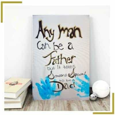 Father's Day DIY Canvas Hand Painting Craft For Kids by cenduparam.com