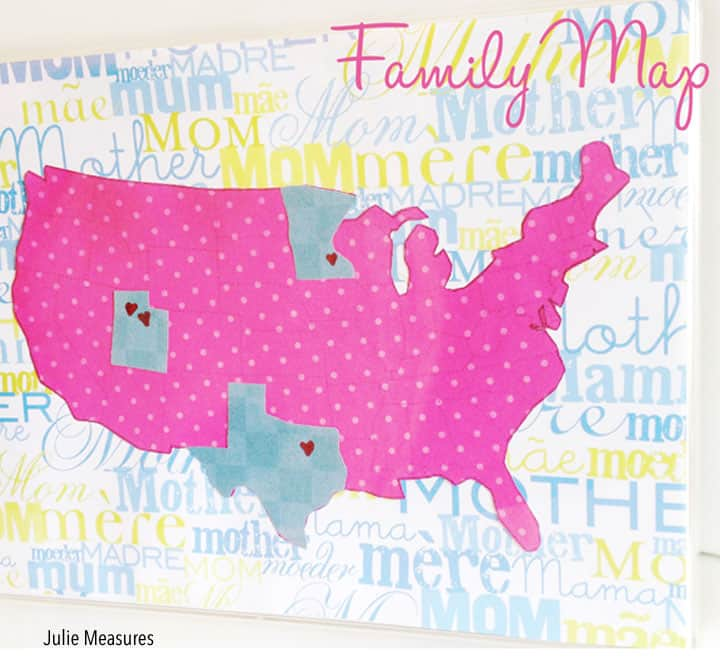 Family Map DIY Craft by juliemeasures.com